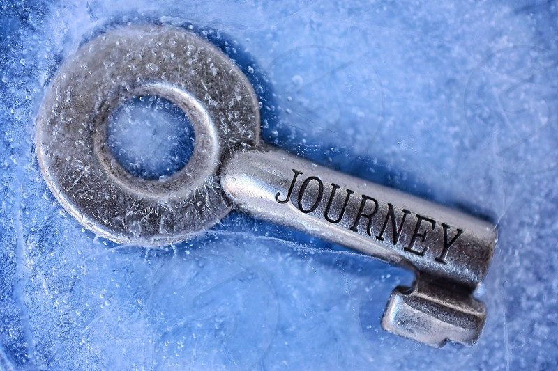 gray journey skeleton key on ice photo