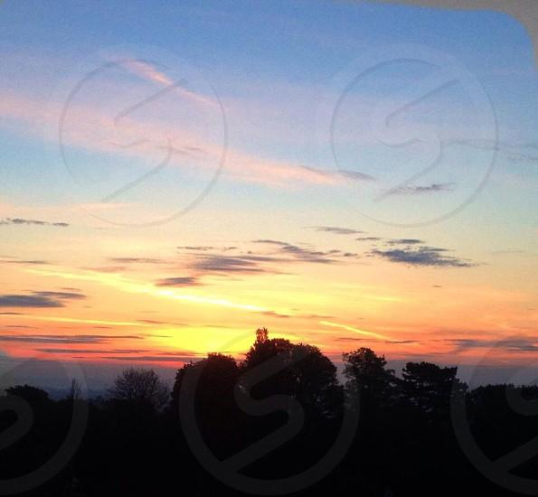 Sunrise over the malvern hills  photo