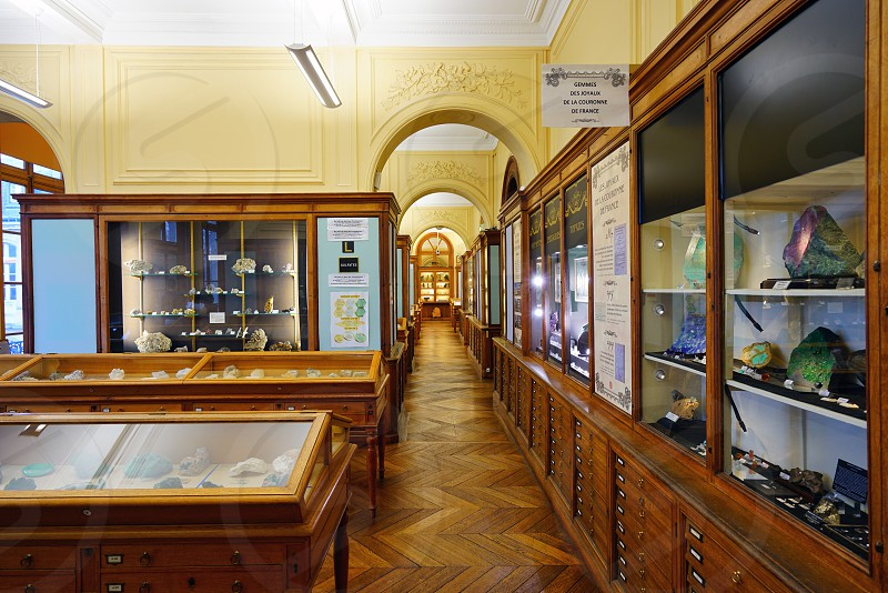 The Musee de Mineralogie museum in Paris France photo