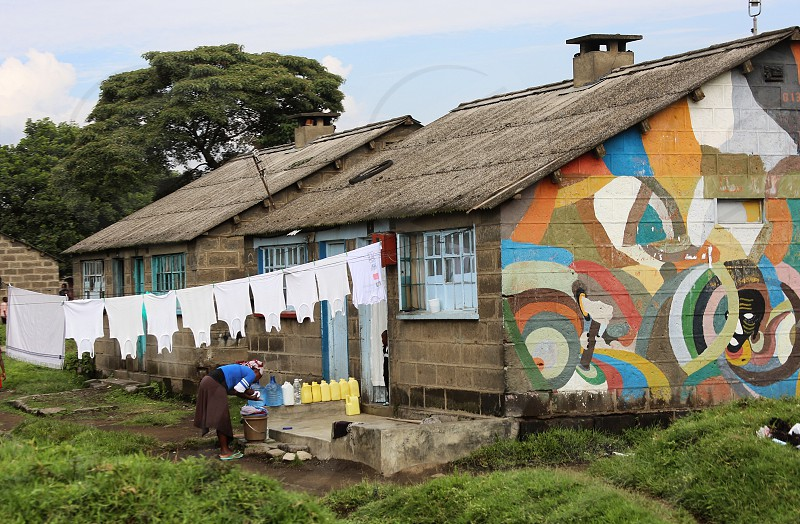 Laundry day Street  laundry out to dry photo