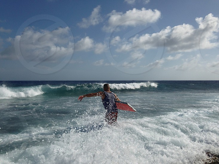 Splash ocean bodyboard wave fun hobby Aruba summer  photo