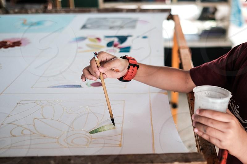 Batik painting photo