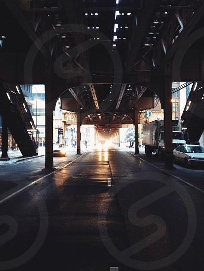 grey concrete road underground photo