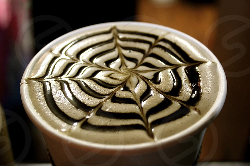 The most beautiful latte. photo