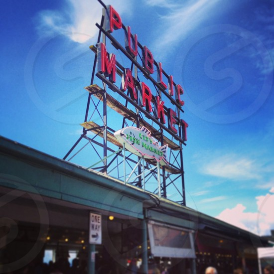 Pike Place Public Market. Seattle WA. 2014. photo
