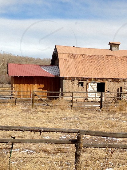 Old barn barn Colorado mountains photo