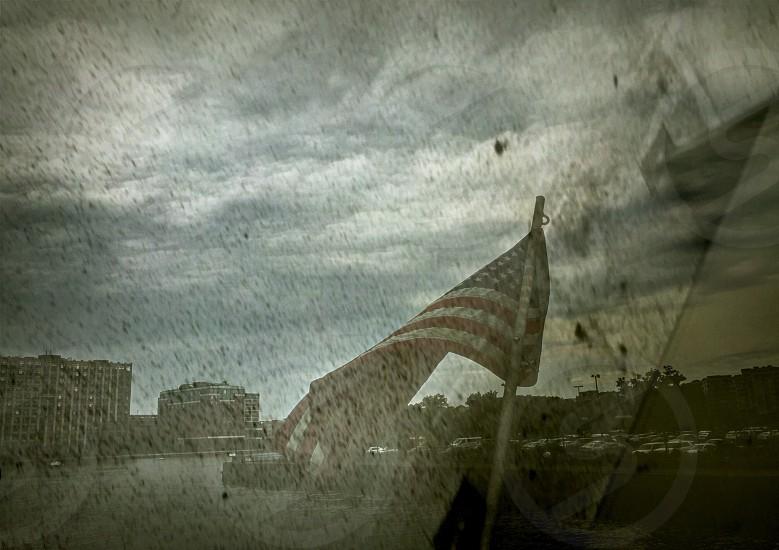 oldgloryflagwaterwavesriver photo