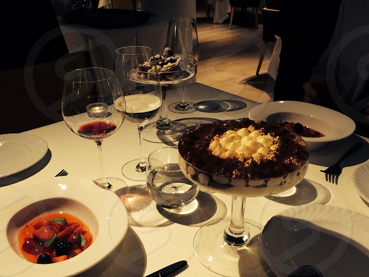 Dessert dal buono e bravo Fabio Baldassare chef stellato a Milano photo