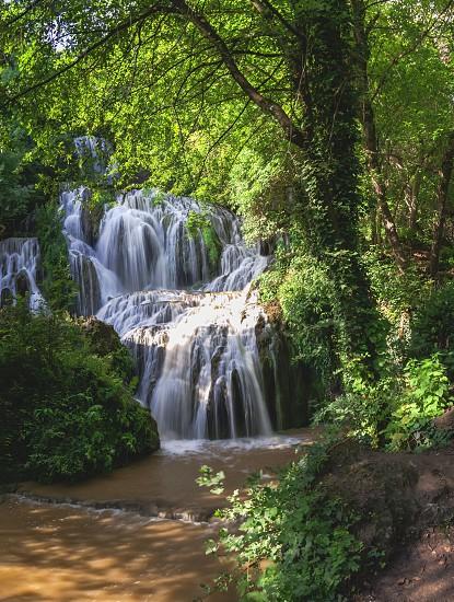 Krushuna waterfalls in northern Bulgaria near a village of Krushuna Letnitsa. photo