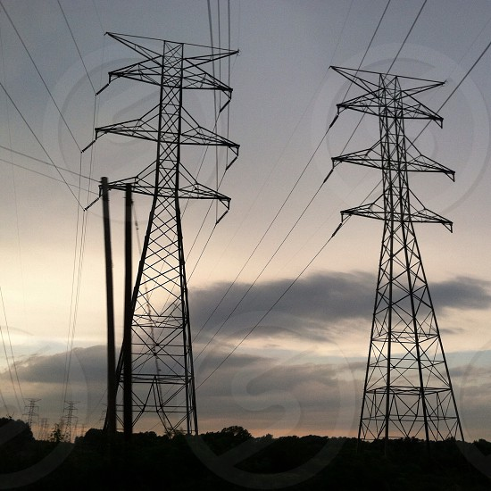 2 electric towers photo
