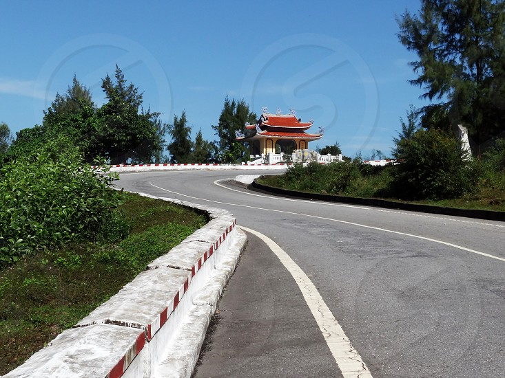 Beautiful road in the center of Vietnam                       photo