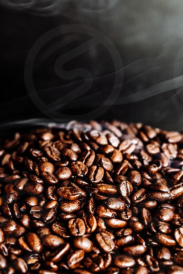 Roasting coffee beans photo
