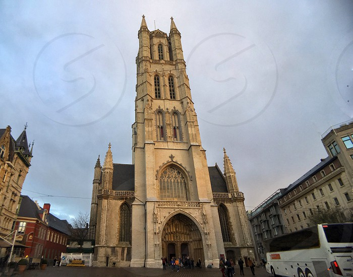 Beautiful cathedral of Ghent Belgium. photo