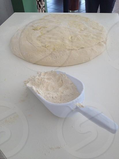 white plastic scoop photo