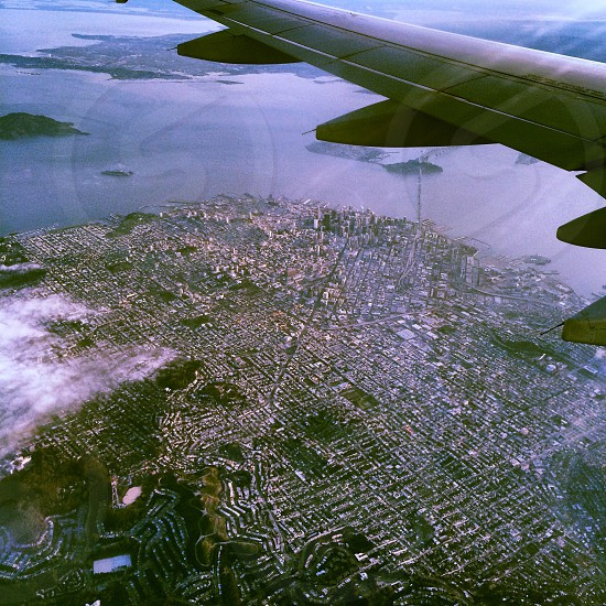 airplane view from sky photo