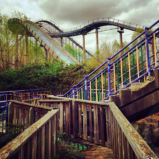 multicolored resort slide photo