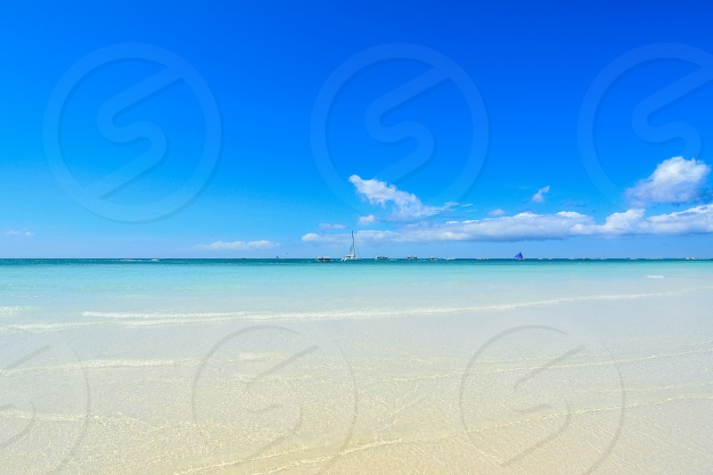 View of the White Beach in Boracay photo