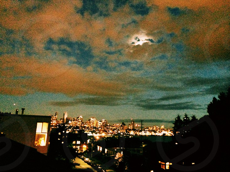 C1 Vsco Seattle super moon  photo