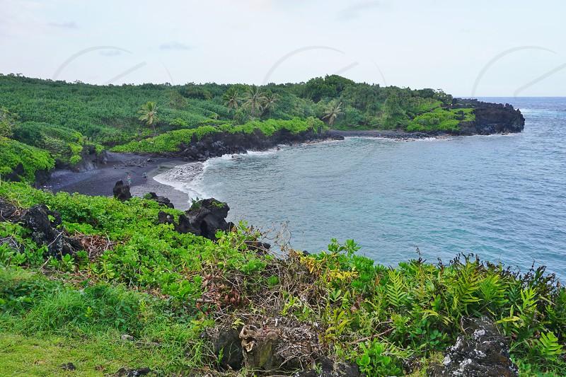 Waianapanapa State Park in Hana Maui Hawaii photo