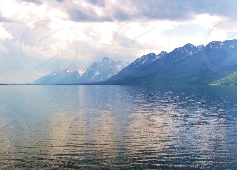 TEton glacier lake photo