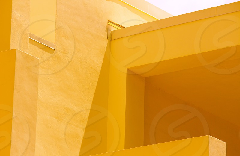 yellow painted wall photo