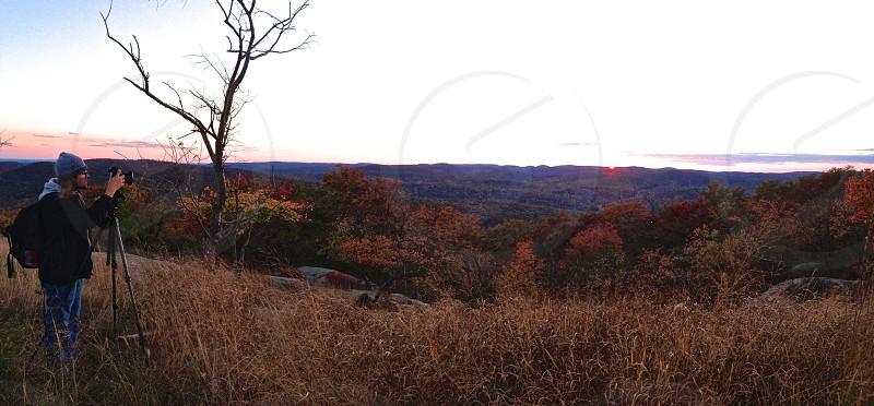 Sunset from Bear Mountain photo