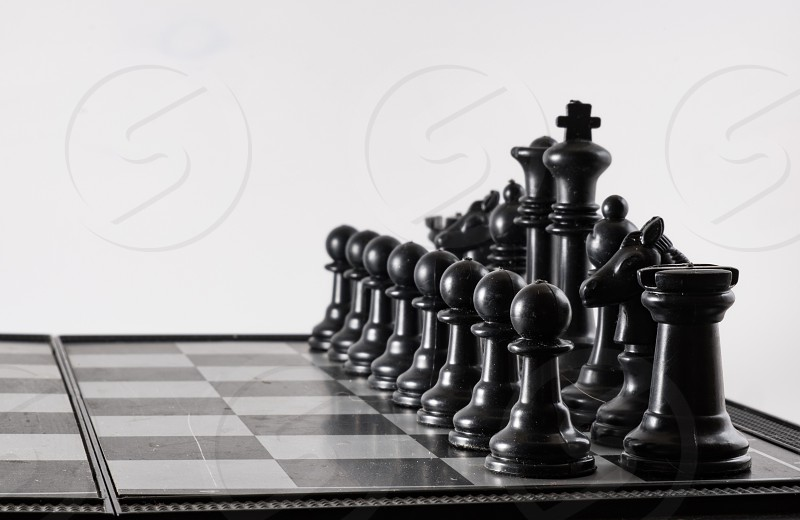 chess black&white macro closeup isolated black game white studio diagonal photo
