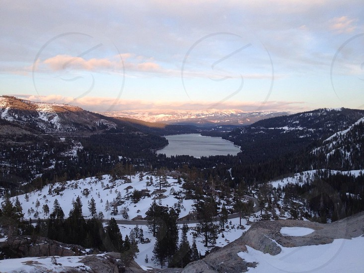 Donner Lake Nevada County CA Sunset photo