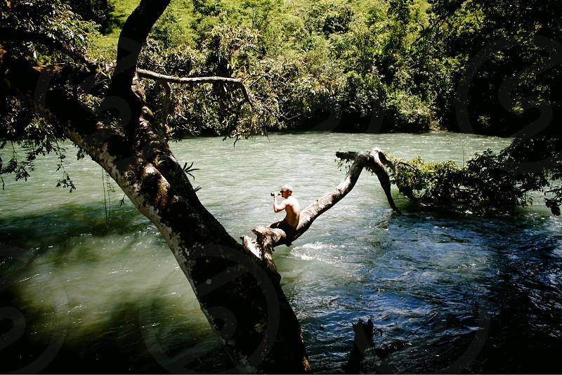 deep thoughts river guatemala relaxing enjoying the water wanderlust adventure photo