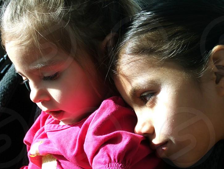 Loving sisters. photo