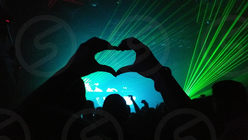 clubbing in the UK is the best and love this picture of the siloette heart shape 😃 photo