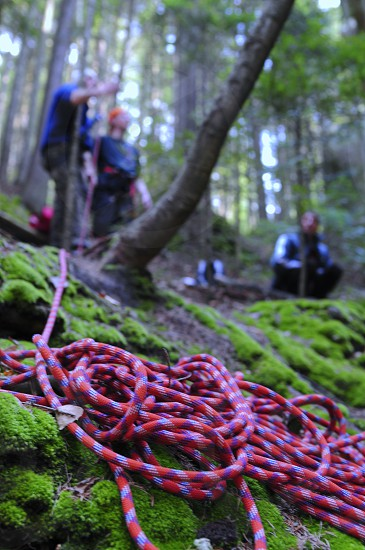 Rope ready for climbing photo