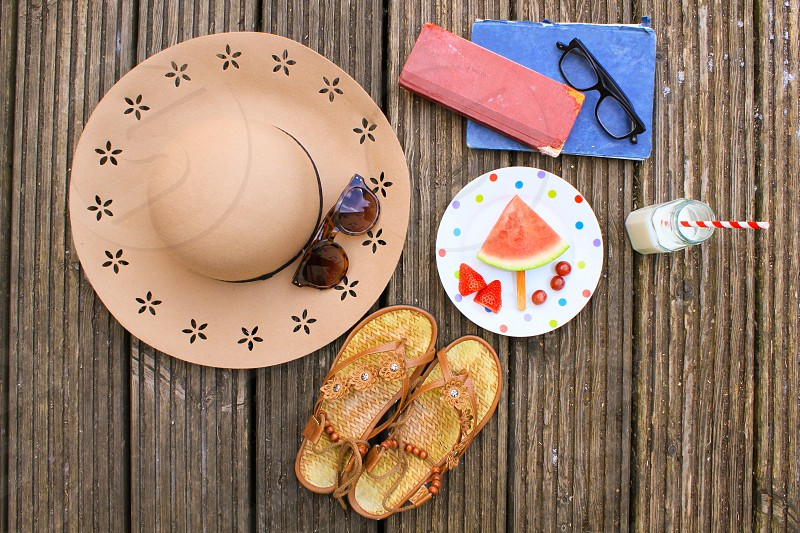 Summer picnic lifestyle staycation vacation fruit healthy snack photo
