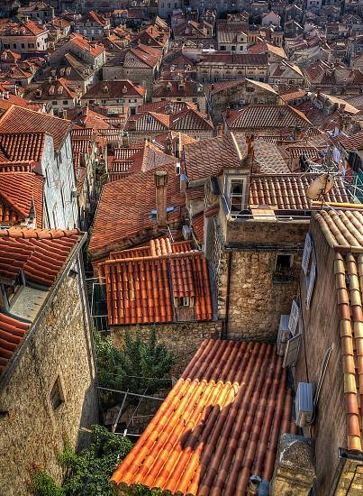 Orange roof tiles old town dubrovnik croatia photo