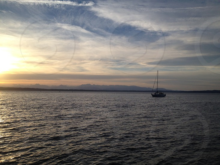 sail boat on sea photo