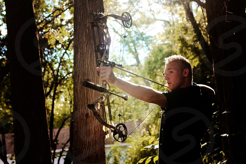 Bow and arrow outdoors! photo