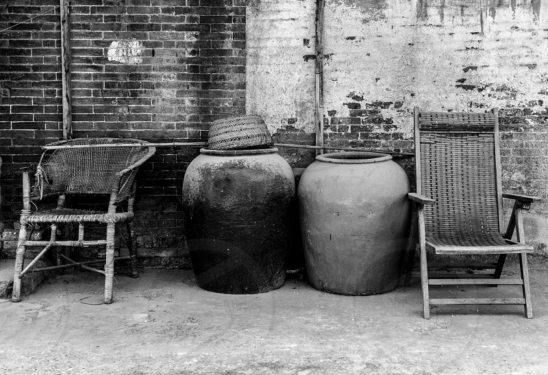 Stool and water tank photo