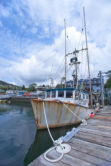 Depoe Bay Harbor ships and nautical items. photo