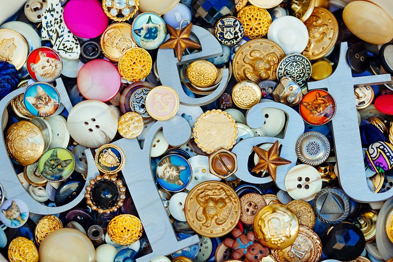 vintage buttons photo