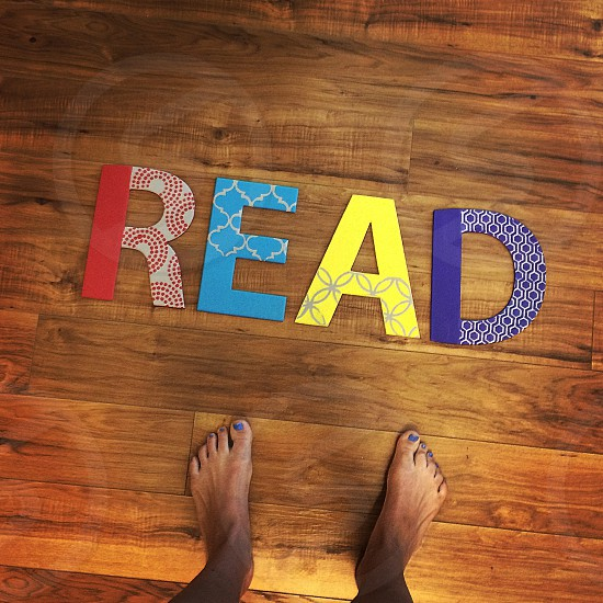 assorted-colored READ freestanding letters photo