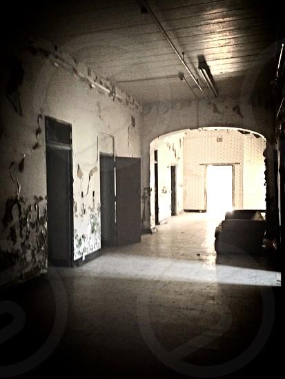 white hallway  photo