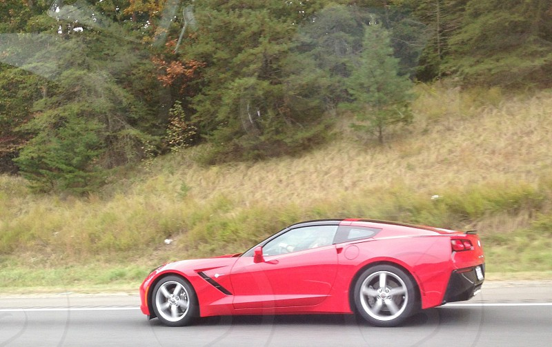 2014 Chevrolet Corvette Stingray on I-95 in Virginia.  photo