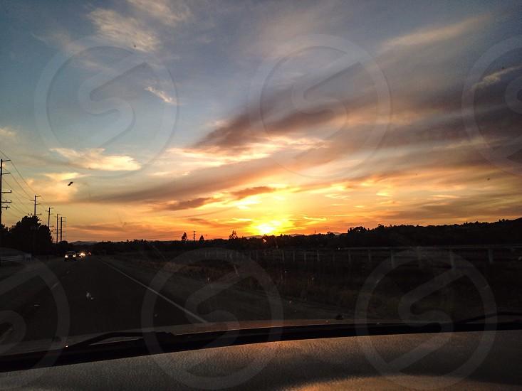 photo of orange sunlight photo