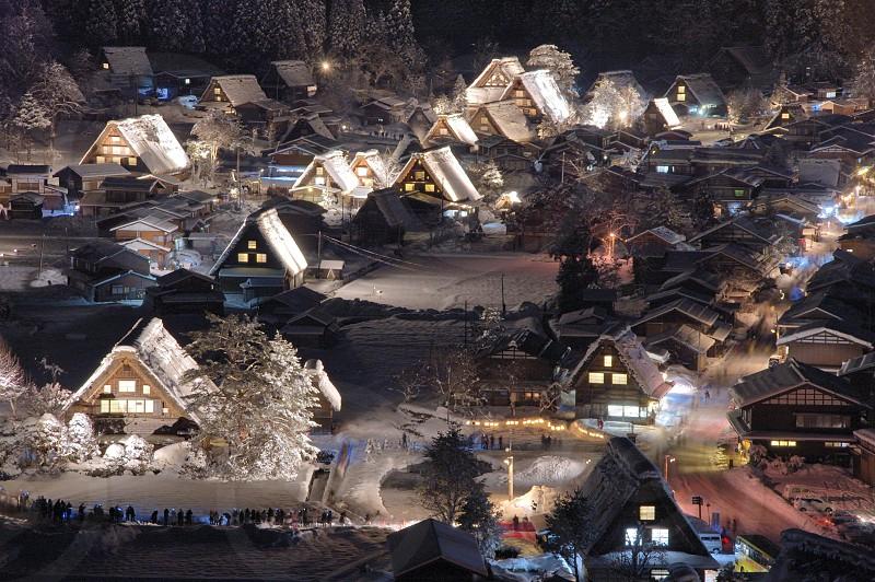 白川郷の夜景 photo