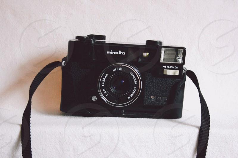black minolta camera photo
