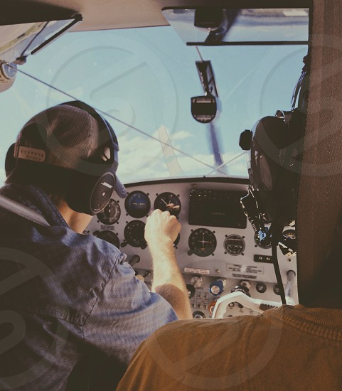 airplane dashboard photo