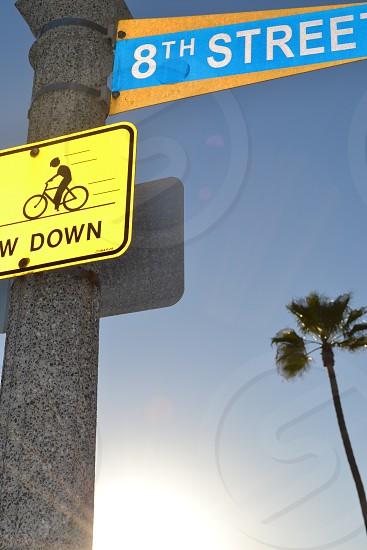 Street Sign in Newport Beach California photo