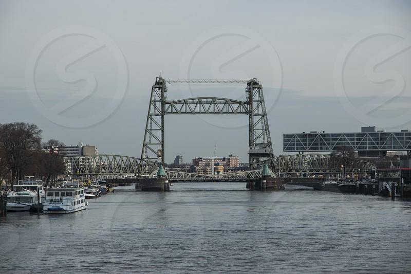 Vertical lift bridge Rotterdam photo