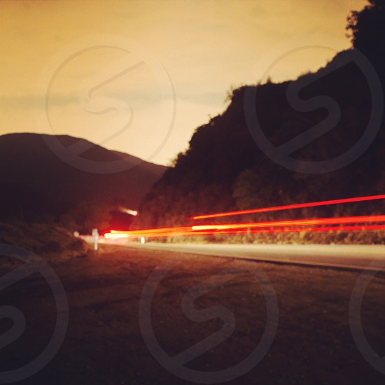 The light of the racing cars photo
