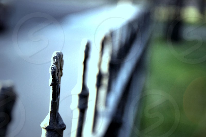 Repetition of an old fence.   photo